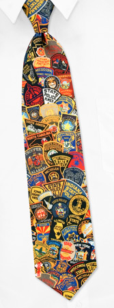 State Police Patches Tie by RM Style -  Multicolor Polyester